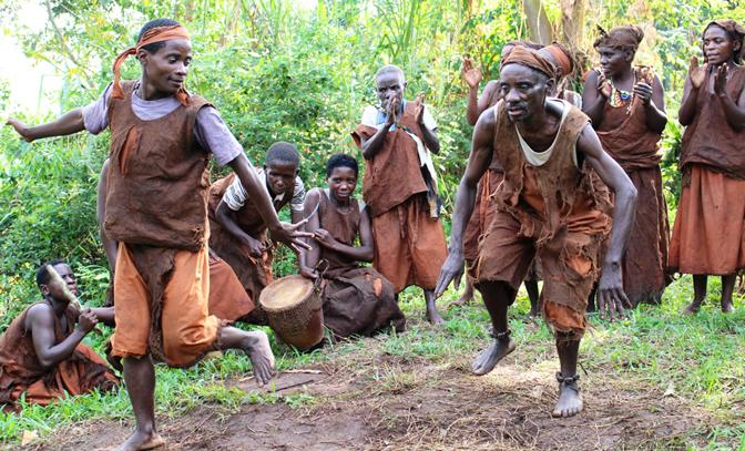 Batwa people in Mgahinga Gorilla Park